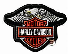 harley davidson patches harley davidson wing eagle bar and shield vest patch