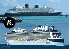 comparing royal caribbean disney cruise line our