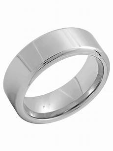men s silver tone tungsten 8mm high polish wedding band