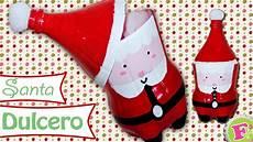 santa claus dulcero con botes de refresco botella de pl 225 stico dulceros de navidad navidad