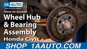 How To Install Replace Rear Wheel Hub & Bearing Assembly