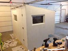 permanent ice fishing house plans door is on and primed ice fishing house tiny house