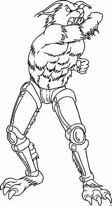Gratis Malvorlagen Werwolf Werwolf Mit Robobeinen Ausmalbild Malvorlage Phantasie