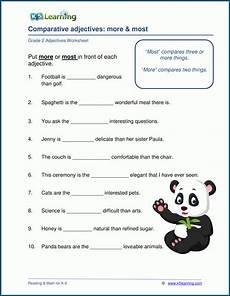 grade 2 adjectives worksheets k5 learning