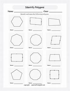 worksheets polygons and quadrilaterals 1025 identify regular polygons and quadrilaterals such as rhombus parallelogram etc analyze