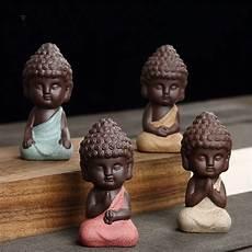 small buddha statue monk figure tea pet ceramic buddhist