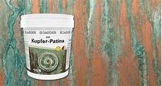Kupfer Farbe Mit Gr 252 Nspan Kupferpatina Effekt Jaeger