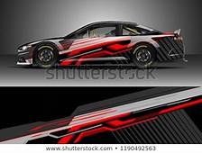 Car Decal Wrap Design Vector Graphic Stock Royalty