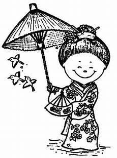 Sterne Malvorlagen Japan Japanische Frau Schirm Ausmalbild Malvorlage L 228 Nder