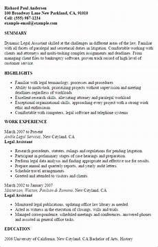 legal assistant resume template best design tips