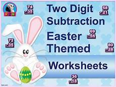 subtraction vertical worksheets 10303 two digit subtraction worksheets easter themed vertical with images math worksheets