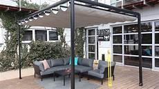 Aluminium Pergola With Retractable Roof