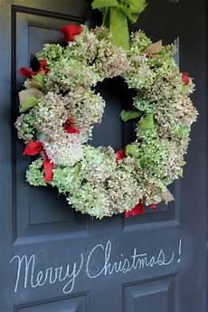 getrocknete hortensien dekorieren dried hydrangea wreath