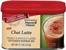 Chai Latte Pulver - general foods international chai latte coffee drink mix 9