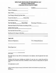 change pay rate form fill out and sign printable pdf template signnow
