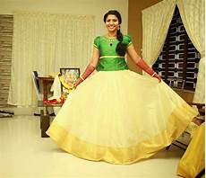 onam special dresses for girls onam green long gown dress traditional skirts kids