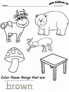 color s worksheets preschool colors preschool