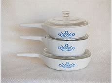 Set of 3 Vintage Corning Ware Cornflower Blue Menu ettes