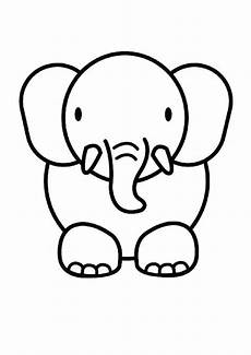 easy animals coloring pages 16976 baby animal coloring pages baby animal drawings elephant coloring page easy drawings