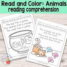 animals around us worksheet for grade 1 14242 animals read and color reading comprehension worksheets grade 1 kindergarten kindergarten