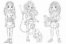 lego friends coloring pages clip free printable