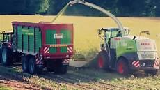 Maisernte Mais H 228 Ckseln In Niedersachsen Extrem Traktoren