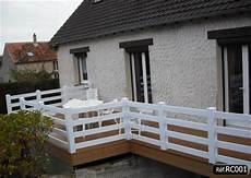 rambarde pour terrasse rambarde en pvc pour terrasse facile 224 installer kit sur