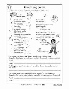 writing poetry worksheets middle school 25325 5th grade reading worksheets poems comparing with images poetry lessons poetry worksheets