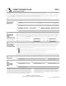 form tsp 1 download printable pdf or fill online election form templateroller