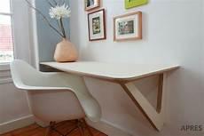 faire un bureau en bois bureau sur mesure le plan de travail suspendu avec