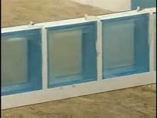 montage briques de verre en syst 232 me prof