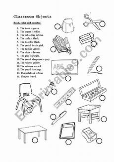 colors and school objects worksheets 12788 classroom objects and colors esl worksheet by lina nguyen