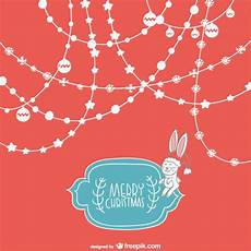cute merry christmas background vector free download
