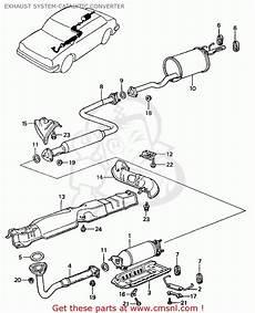 honda civic 1982 c 4dr1500 ka kh kl exhaust system