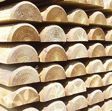 demi rondins autoclave piquets bois trait 233 s classe 4