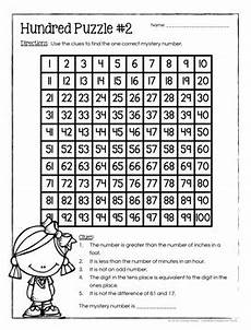 hundred board number puzzles math enrichment activities 2nd grade