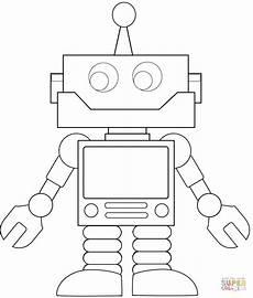 roboter malvorlagen zum ausdrucken ausmalbild karrikatur roboter ausmalbilder kostenlos