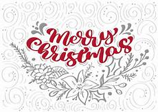 merry christmas calligraphy lettering vector text with winter elements in scandinavian