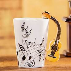 guitar coffee mug creative musical theme guitar design handle ceramic coffee mug beddinginn
