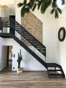 garde corps escalier moderne escalier m 233 tal 1 4 tournant garde corps d 233 coupe laser stairs en 2019 escaliers metal