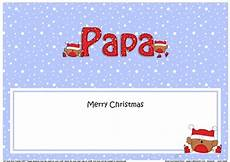 large dl merry christmas papa insert with bobbin robin cup1001897 359 craftsuprint