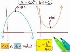 das minimum oder maximum einer quadratischen funktion