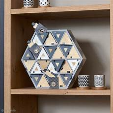 Calendrier De L Avent En Bois à Décorer Calendrier De L Avent En Bois 224 D 233 Corer Hexagone 36 5