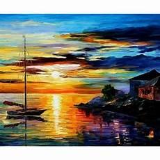 tableau peinture 224 l huile mer et bateau 79 tableau
