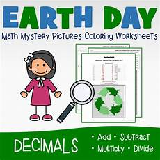earth day decimals coloring worksheets printables worksheets