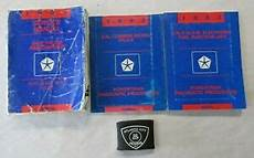 service and repair manuals 1993 dodge ramcharger head up display 1993 dodge d w 150 350 ramcharger rwd truck service shop repair manual set ebay