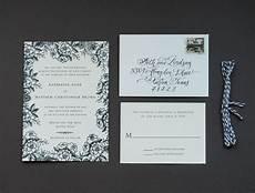 diy rubber st floral wedding invitations