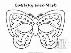 free printable butterfly mask template coloring page
