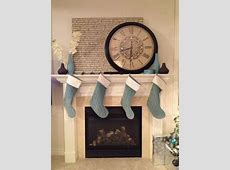 Large clock over the fireplace   Home Sweet Home