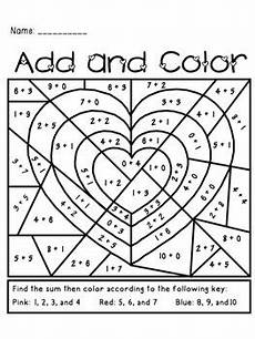 color by number worksheets hearts 16061 s day add and color activity by the busy class tpt